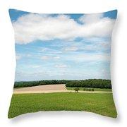 Sky Over Field Throw Pillow