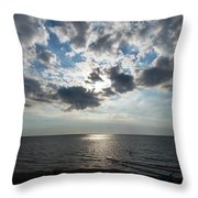 Sky Over Oval Beach Lake Michigan 1 Throw Pillow