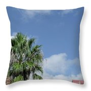 Sky Palm Throw Pillow
