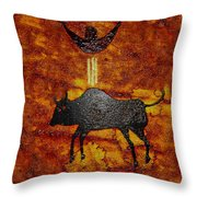Sky People Taking Buffalo Throw Pillow