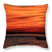 Sky Ripple Sunset Throw Pillow
