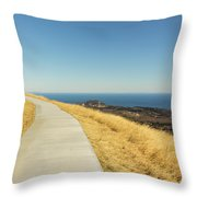 Sky Road Throw Pillow