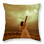 Sky Splitter Throw Pillow