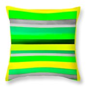 Sky Stripes 10 Throw Pillow