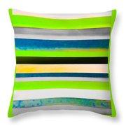 Sky Stripes 11 Throw Pillow