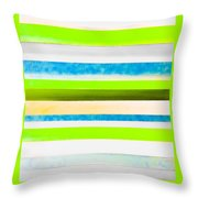 Sky Stripes 12 Throw Pillow