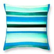 Sky Stripes 14 Throw Pillow