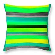 Sky Stripes 9 Throw Pillow