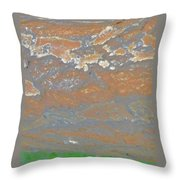 Sky The Color Of Trees Throw Pillow