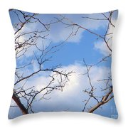 Look At The Blue Sky Throw Pillow