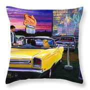 Sky View Drive-in Throw Pillow
