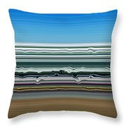 Sky Water Earth Throw Pillow