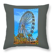 Sky Wheel-colorized Throw Pillow