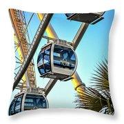Sky Wheel Sunset Throw Pillow