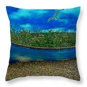 Skyboat Throw Pillow