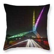 Skydance Bridge Okc Throw Pillow