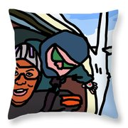 Skydiving Throw Pillow by Jera Sky