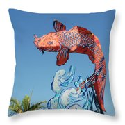 Skyfish Throw Pillow