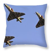 Skyhawk Fighter Jet In Formation  Throw Pillow
