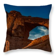 Skyline Arch At Sunset Throw Pillow