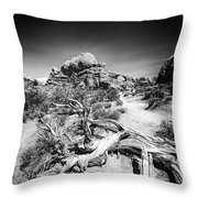 Skyline Arch In Arches National Park Throw Pillow
