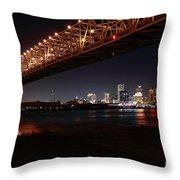 Skyline Bridge Throw Pillow