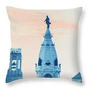 Skyline - Broad Street Philadelphia Throw Pillow