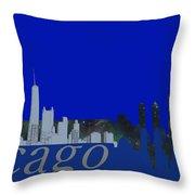 Skyline Chicago 4 Throw Pillow