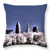 Skyline Cleveland, Ohio Throw Pillow