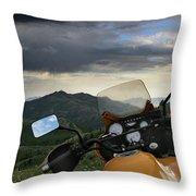 Skyline Drive Above Davis County Throw Pillow
