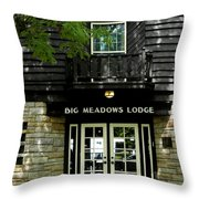 Skyline Drive - Big Meadows Throw Pillow