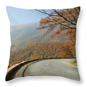 Skyline Drive I Throw Pillow