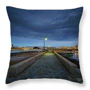 Skyline From The Walkway Cadiz Spain Throw Pillow