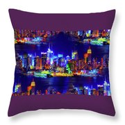 Skyline Island Throw Pillow