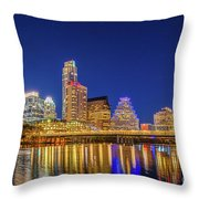 Skyline Of Downtown Austin Throw Pillow