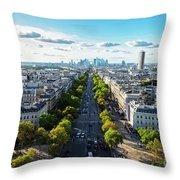 Skyline Of Paris, France Throw Pillow
