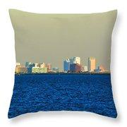 Skyline Of Tampa Bay Florida Throw Pillow
