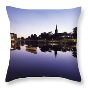 Skyline Over The R Garavogue, Sligo Throw Pillow