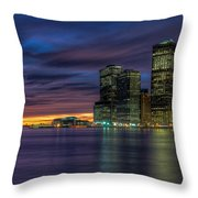 Skyline Sunset Throw Pillow