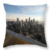 Skyline With A Purpose Throw Pillow
