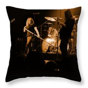 Skynyrd Sf 1975 #10 Crop 2 Enhanced In Amber Throw Pillow