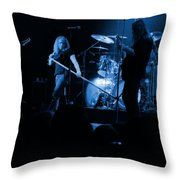 Skynyrd Sf 1975 #10 Crop 2 Enhanced In Blue Throw Pillow