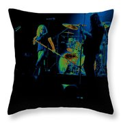 Skynyrd Sf 1975 #10 Crop 2 Enhanced In Cosmicolors Throw Pillow