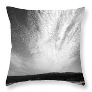 Skyscape At Carmel Beach B And W Throw Pillow