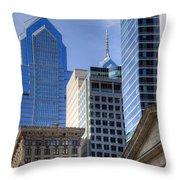 Skyscraper City Center  Liberty Place Throw Pillow