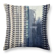 Skyscraper Windows Throw Pillow