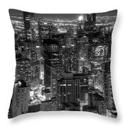 Skyscrapers Of Chicago Throw Pillow