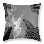 Skytops Manhattan Black And White Throw Pillow