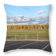 Skyview Portland Airport Oregon. Throw Pillow