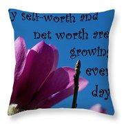 Skyward Affirmation Throw Pillow